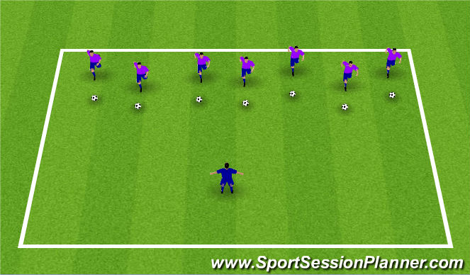Football/Soccer Session Plan Drill (Colour): Lights