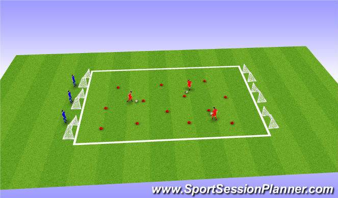 Football/Soccer Session Plan Drill (Colour): Ball Manipulation