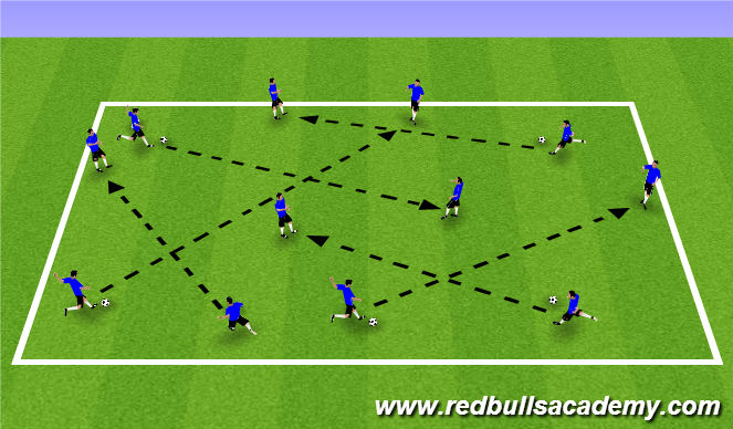 Football/Soccer Session Plan Drill (Colour): Warm Up (900)
