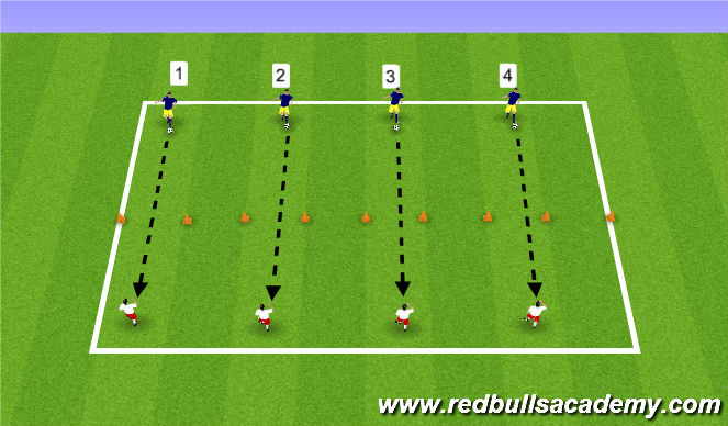 Football/Soccer Session Plan Drill (Colour): Passing Competition