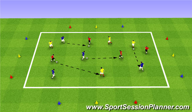 Football/Soccer Session Plan Drill (Colour): Communication