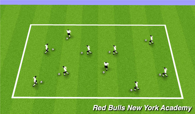 Football/Soccer Session Plan Drill (Colour): FOOTSKILLS WARM-UP