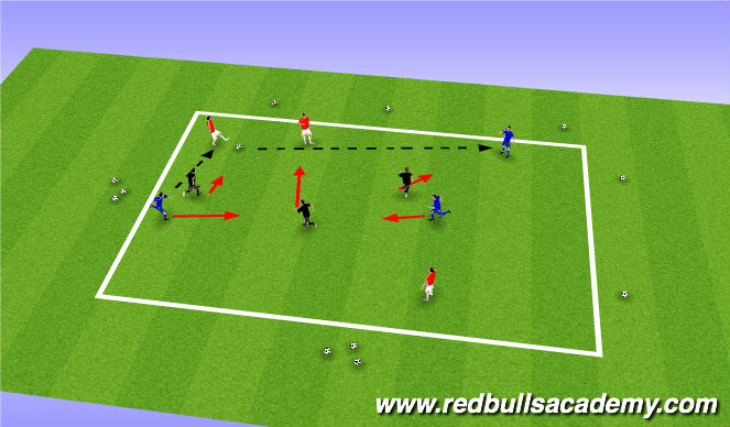 Football/Soccer Session Plan Drill (Colour): Warm up: 3 team possession game.