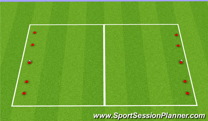 Football/Soccer Session Plan Drill (Colour): G: SSG Dribble to Overload