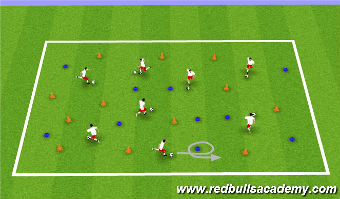 Football/Soccer Session Plan Drill (Colour): Pirate Island