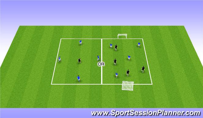 Football/Soccer Session Plan Drill (Colour): Rondo OR 3v3/4v4 Arrival Game