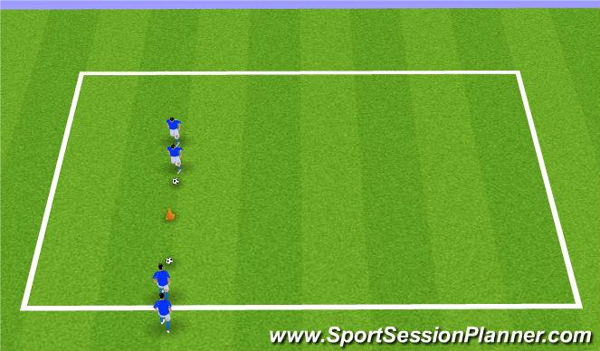 Football/Soccer Session Plan Drill (Colour): 1v1 Moves