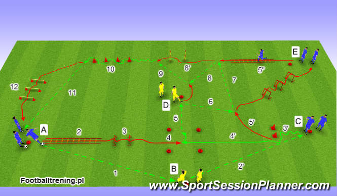 Football/Soccer Session Plan Drill (Colour): Wersja 1
