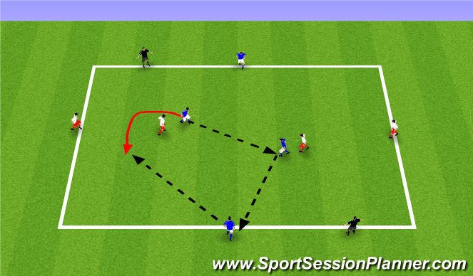 Football/Soccer Session Plan Drill (Colour): ODP Week 9 2nd Session Analytical