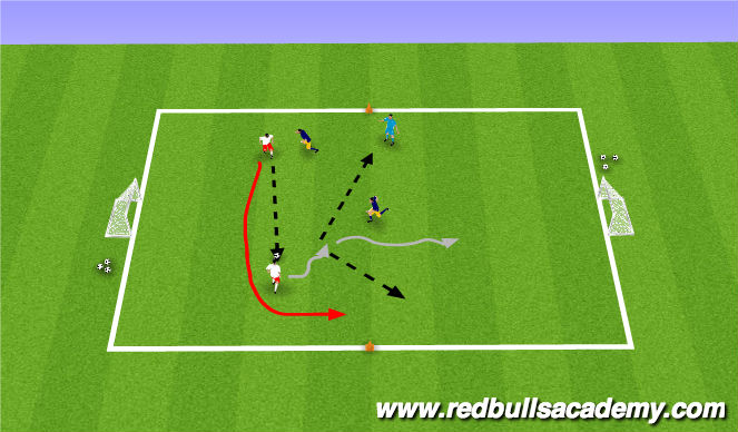 Football/Soccer Session Plan Drill (Colour): Condition