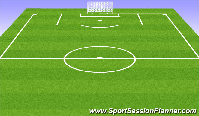 Football/Soccer Session Plan Drill (Colour): Frame