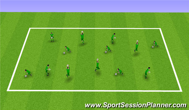 Football/Soccer Session Plan Drill (Colour): Getting used to the ball