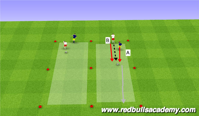 Football/Soccer Session Plan Drill (Colour): Warm Up - Semi