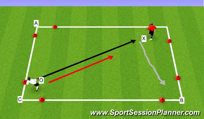 Football/Soccer Session Plan Drill (Colour): Three Gate Game