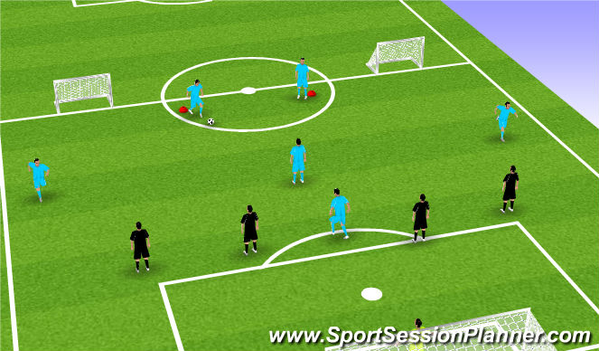 Football/Soccer Session Plan Drill (Colour): SSG.