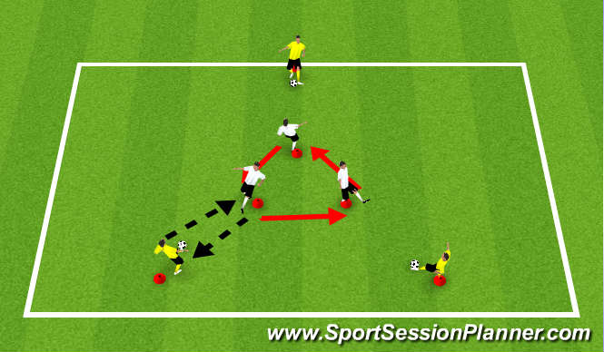 Football/Soccer Session Plan Drill (Colour): Pass and Move