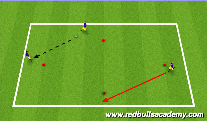 Football/Soccer Session Plan Drill (Colour): Warm-Up II