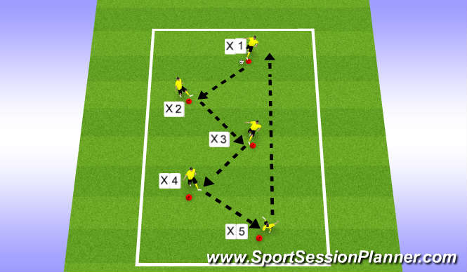 Football/Soccer Session Plan Drill (Colour): Zigga Zagga