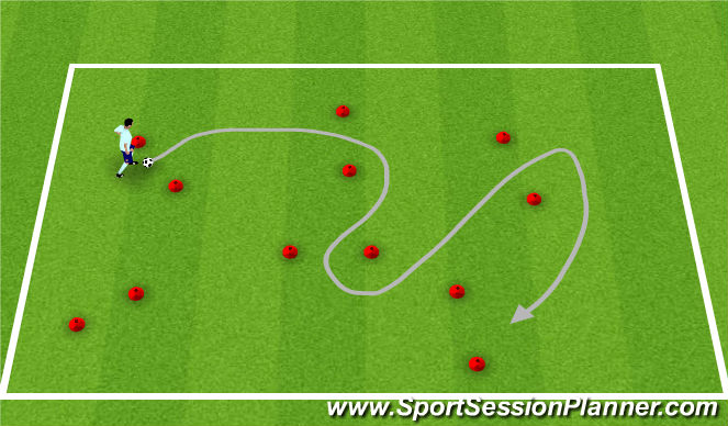 Football/Soccer Session Plan Drill (Colour): Dribble Gates