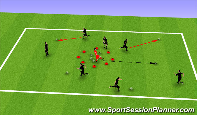 Football/Soccer Session Plan Drill (Colour): Frog Catcher (U5)
