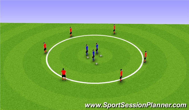 Football/Soccer Session Plan Drill (Colour): Passing and Receiving Circle