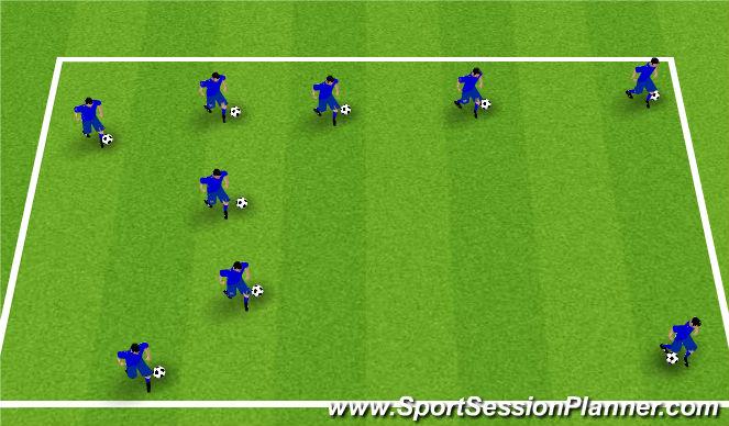 Football/Soccer Session Plan Drill (Colour): 1v1 Ball Mx