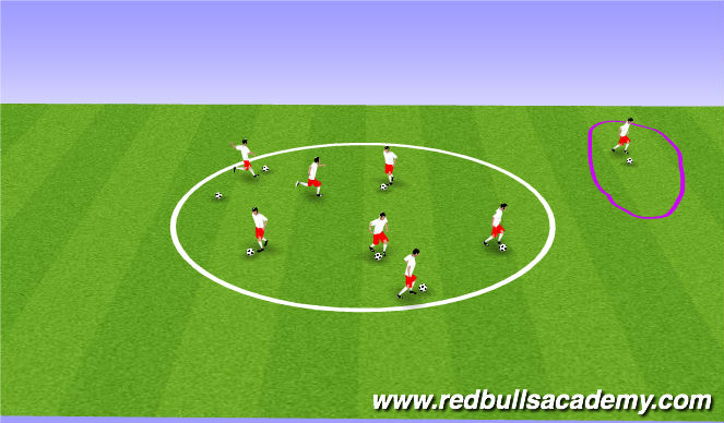 Football/Soccer Session Plan Drill (Colour): Tale or ball.