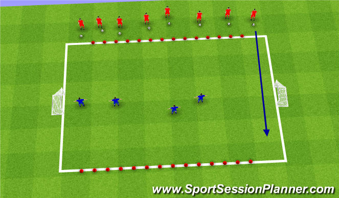Football/Soccer Session Plan Drill (Colour): Hungry DInosaurs