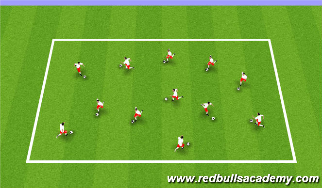 Football/Soccer Session Plan Drill (Colour): Ball Mastery/Knockout