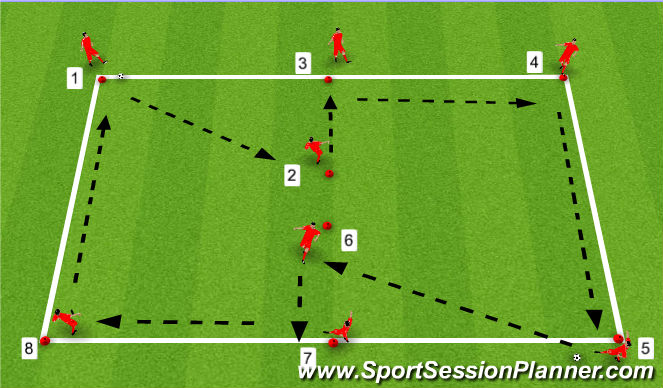 Football/Soccer Session Plan Drill (Colour): Exercise 1: Drill