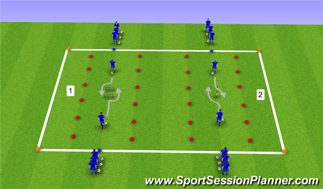 Football/Soccer Session Plan Drill (Colour): Skill Move Mastery