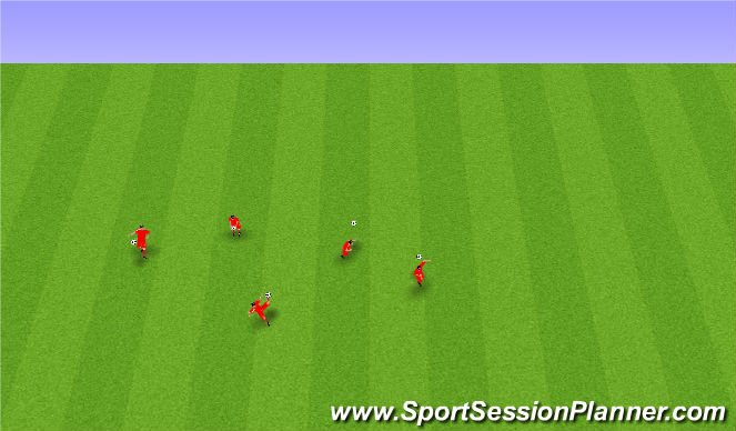 Football/Soccer Session Plan Drill (Colour): Boltameðferð.