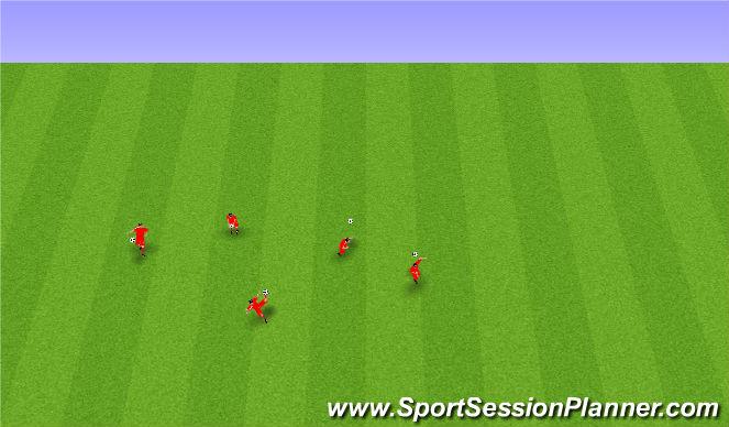 Football/Soccer Session Plan Drill (Colour): Boltameðferð.