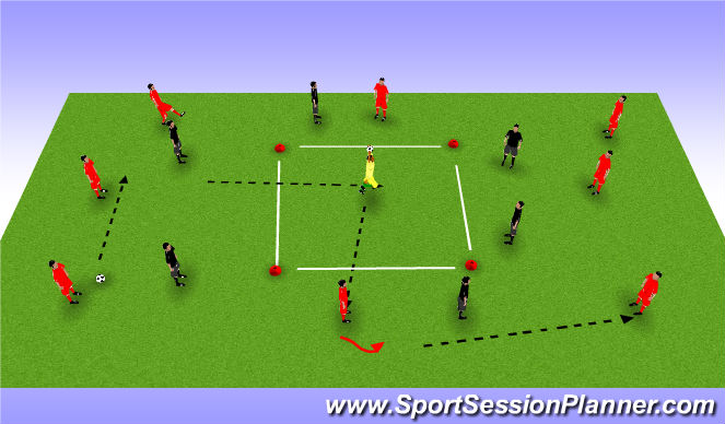Football/Soccer Session Plan Drill (Colour): Possession :goalkeeper