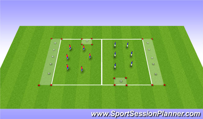 Football/Soccer Session Plan Drill (Colour): Warm-up game: Prison Break
