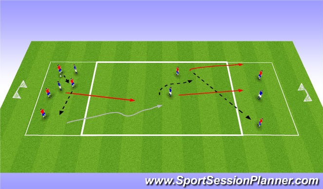 Football/Soccer Session Plan Drill (Colour): RWTB 2