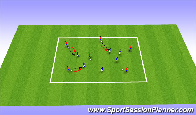 Football/Soccer Session Plan Drill (Colour): Warm up activity
