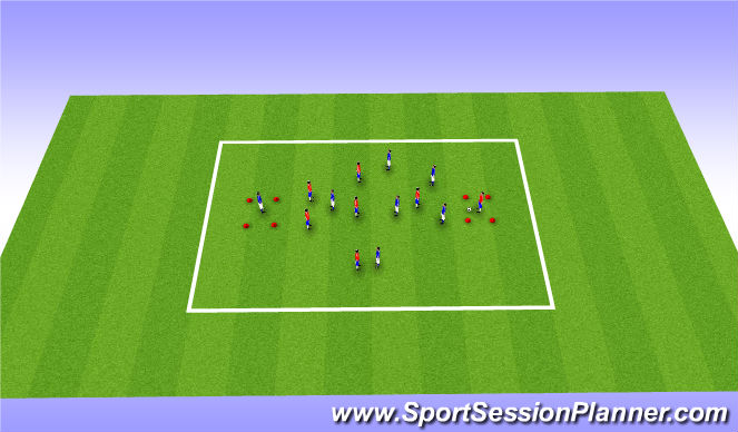 Football/Soccer Session Plan Drill (Colour): Pressing
