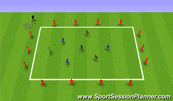 Football/Soccer Session Plan Drill (Colour): 30 passes