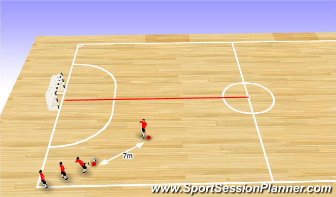 Futsal Session Plan Drill (Colour): Endurance