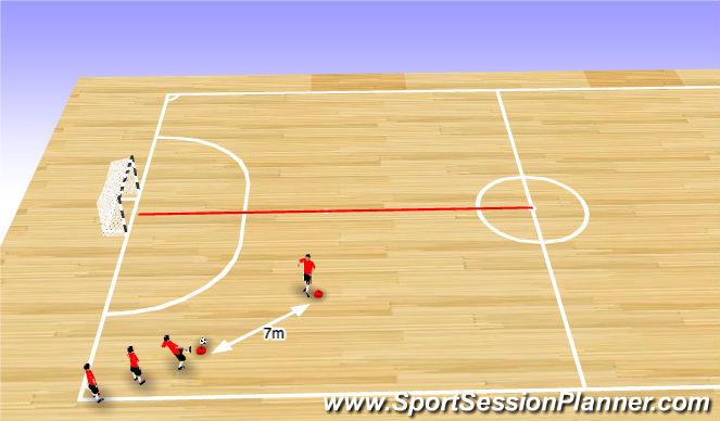Futsal Session Plan Drill (Colour): Endurance