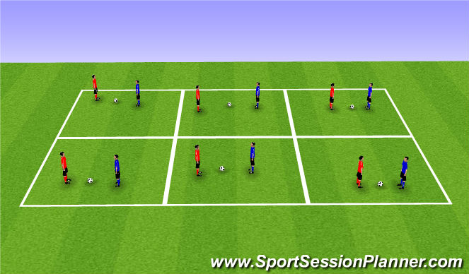 Football/Soccer Session Plan Drill (Colour): Ball Grab
