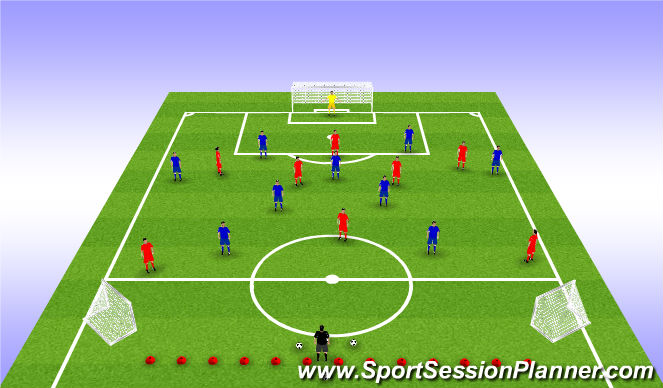 Football/Soccer Session Plan Drill (Colour): phase of play (squad session)