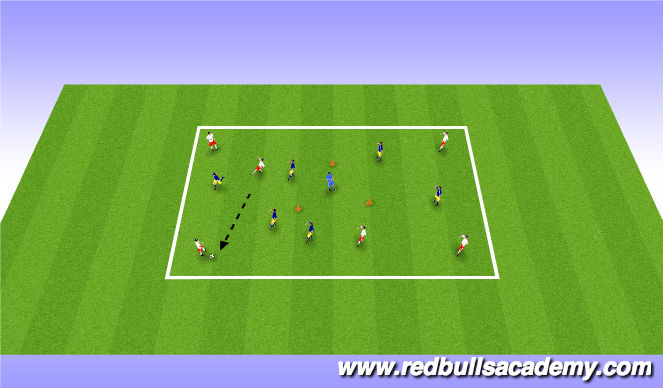 Football/Soccer Session Plan Drill (Colour): Passing Theme