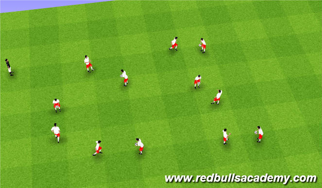 Football/Soccer Session Plan Drill (Colour): RDS Juggling WU
