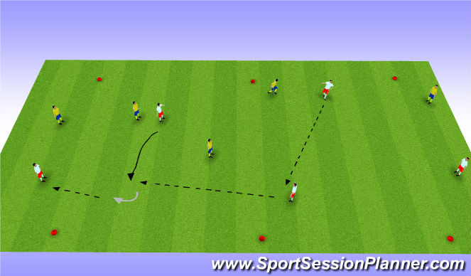 Football/Soccer Session Plan Drill (Colour): Possession with Targets