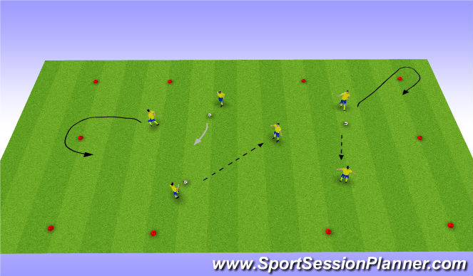 Football/Soccer Session Plan Drill (Colour): Multiple balls ( Warm up )