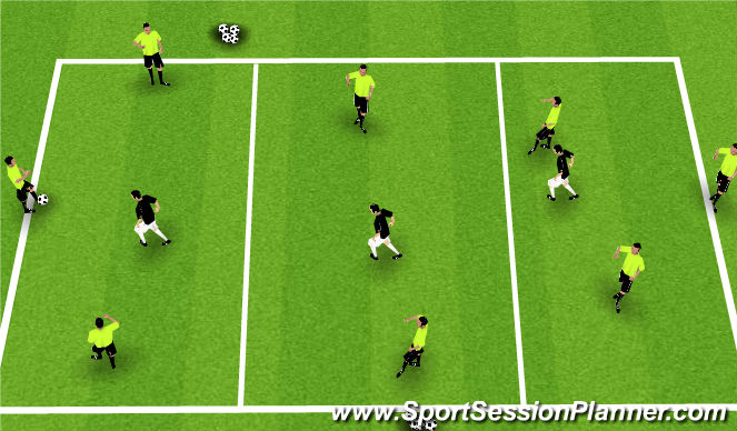 Football/Soccer Session Plan Drill (Colour): Progress the game