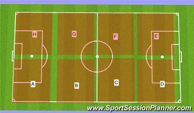 Football/Soccer Session Plan Drill (Colour): Baseball