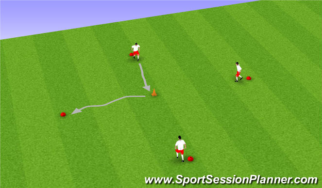 Football/Soccer Session Plan Drill (Colour): Ball Mastery + Moves